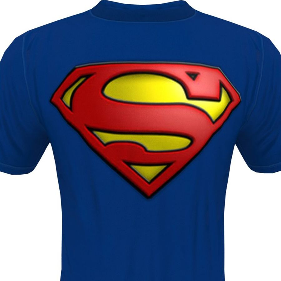 T SHIRT SUPERMAN royalty-free 3d model - Preview no. 2