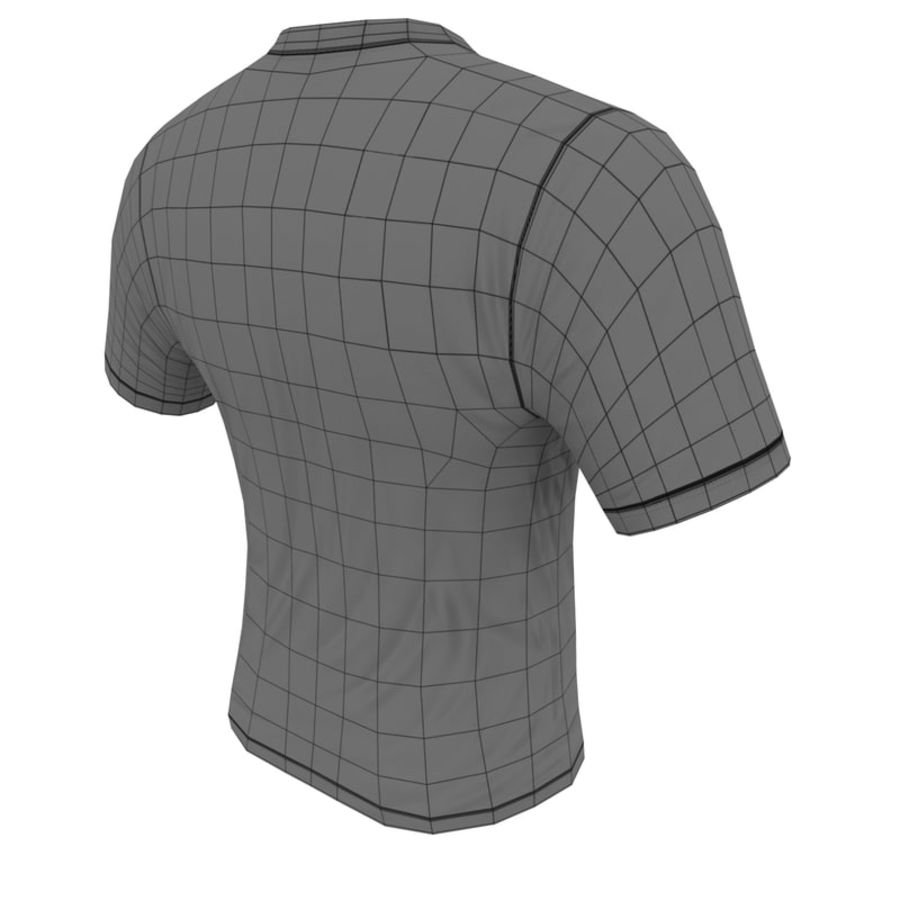 T SHIRT SUPERMAN royalty-free 3d model - Preview no. 9
