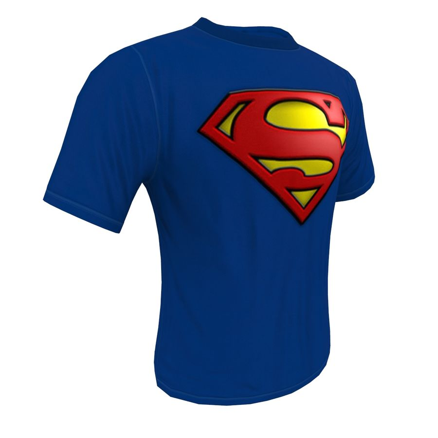 T SHIRT SUPERMAN royalty-free 3d model - Preview no. 7