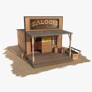 Wilder Westen, der Saloon 13 errichtet 3d model