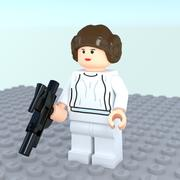 Lego Princess Leia 3d model