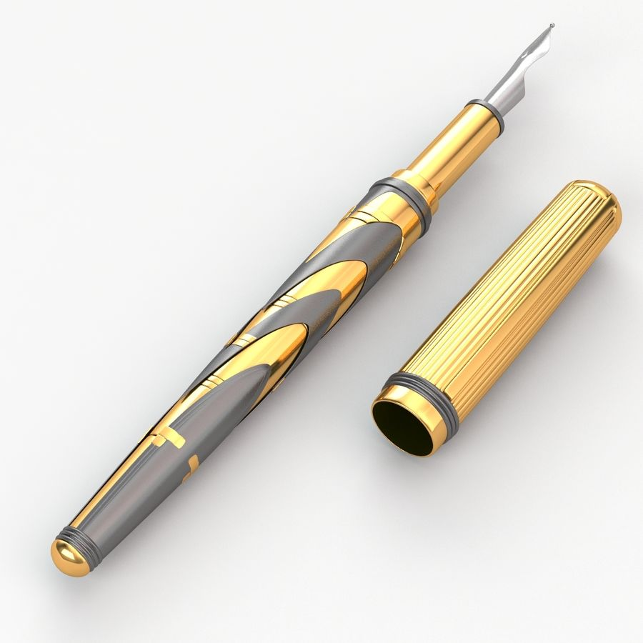 Pen royalty-free 3d model - Preview no. 3