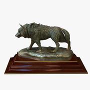 Statuette Wolf 3d model