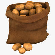 Säck med potatis 3d model