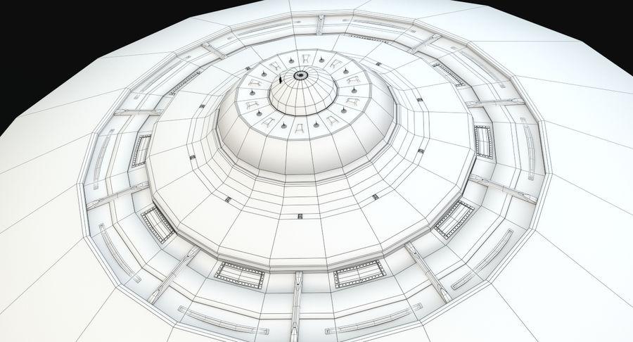 Latający spodek royalty-free 3d model - Preview no. 16