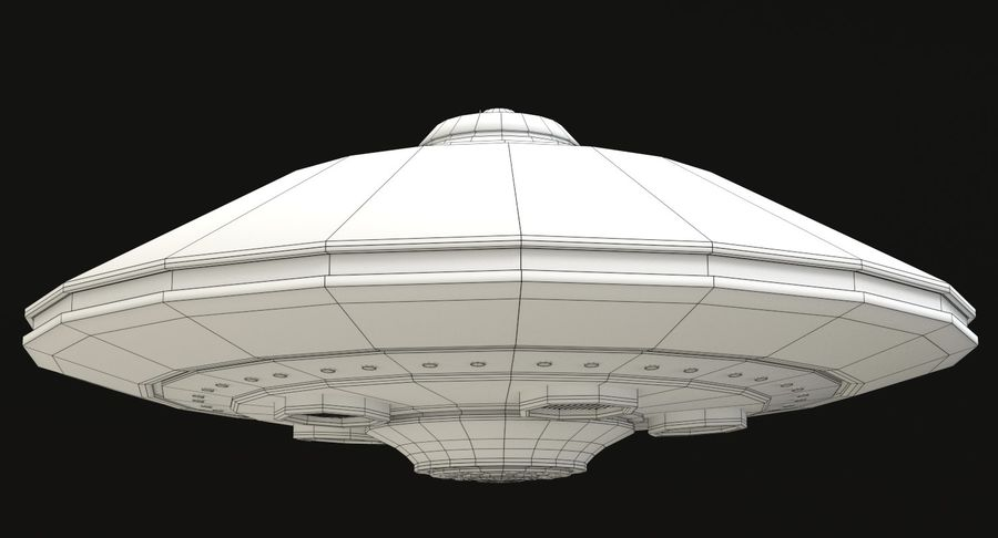 Flying Saucer royalty-free 3d model - Preview no. 13