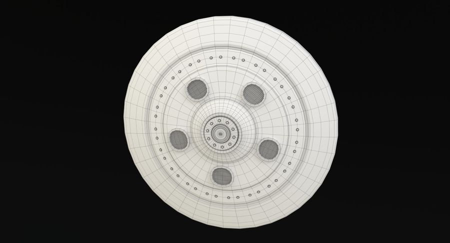 Flying Saucer royalty-free 3d model - Preview no. 18