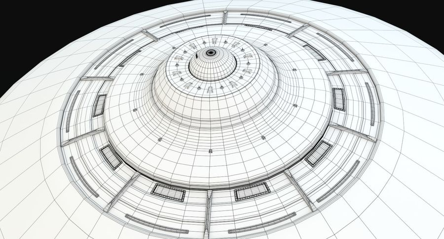 Flying Saucer royalty-free 3d model - Preview no. 15