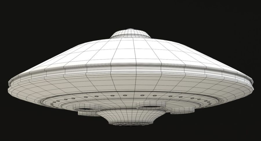 Flying Saucer royalty-free 3d model - Preview no. 14