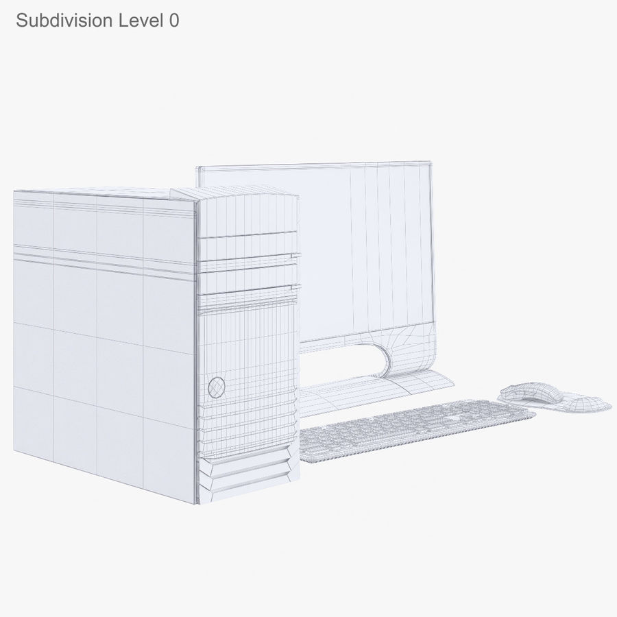 Computer Personal Workstation o Gamestation royalty-free 3d model - Preview no. 20