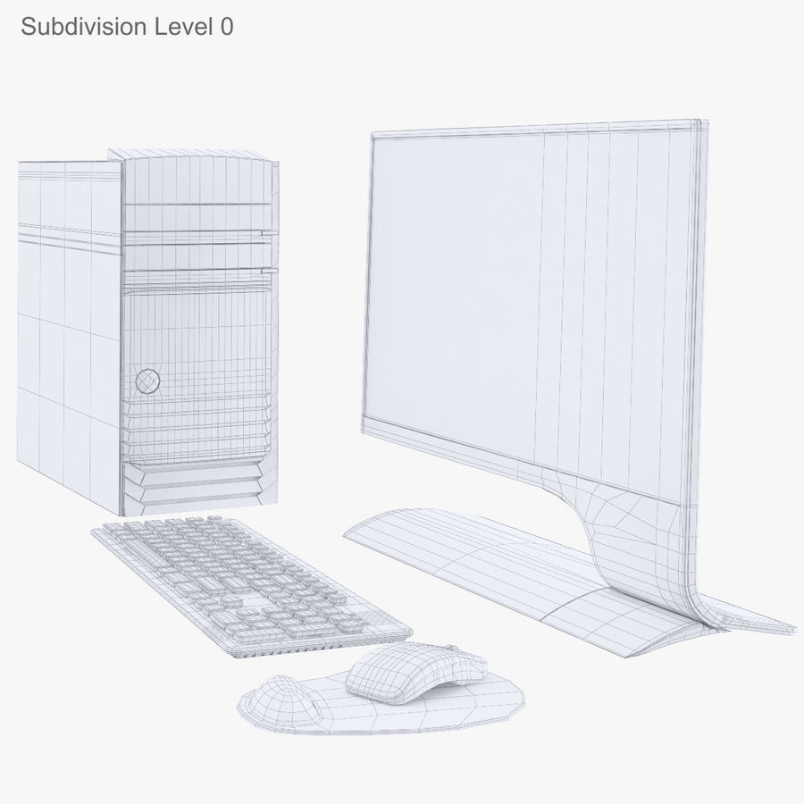 Computer Personal Workstation o Gamestation royalty-free 3d model - Preview no. 19