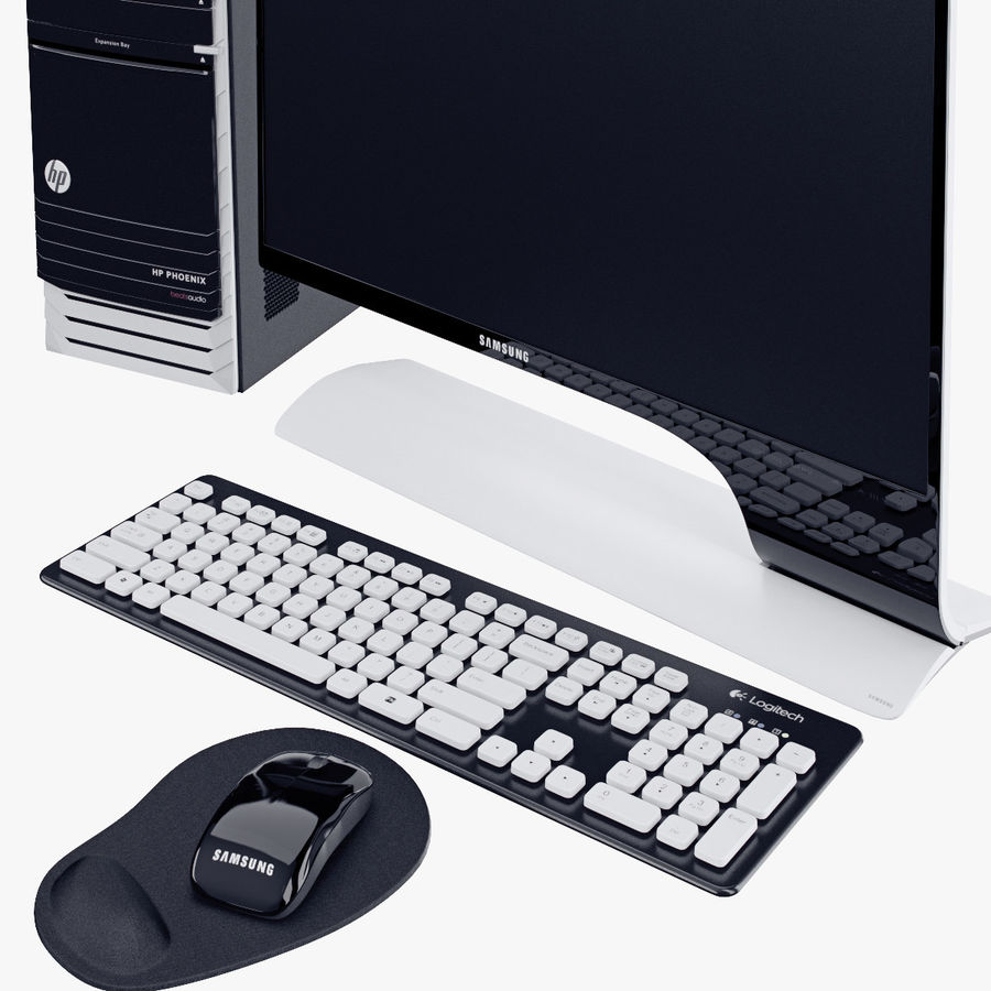 Computer Personal Workstation o Gamestation royalty-free 3d model - Preview no. 13