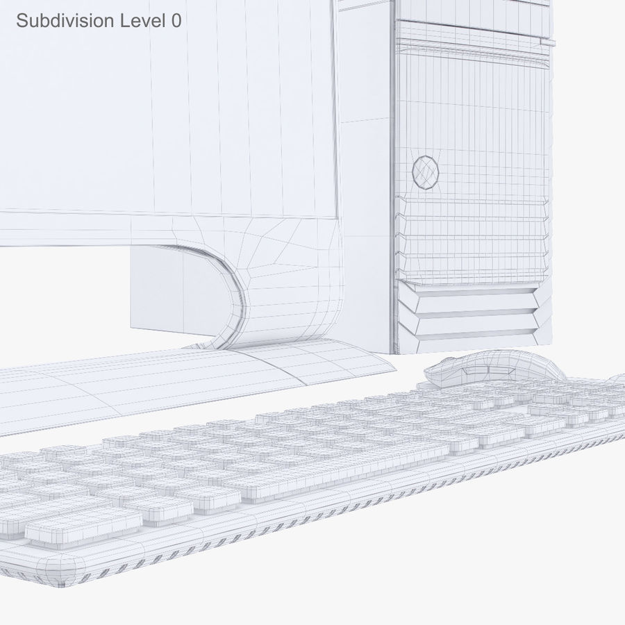 Computer Personal Workstation o Gamestation royalty-free 3d model - Preview no. 23