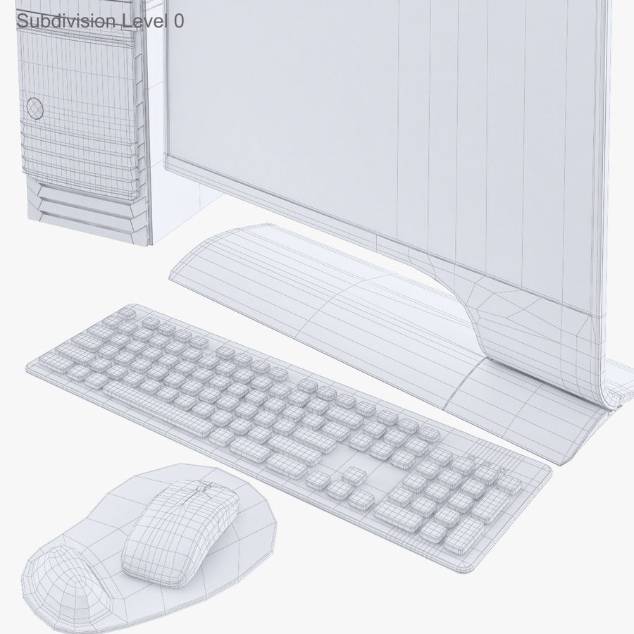 Computer Personal Workstation o Gamestation royalty-free 3d model - Preview no. 27