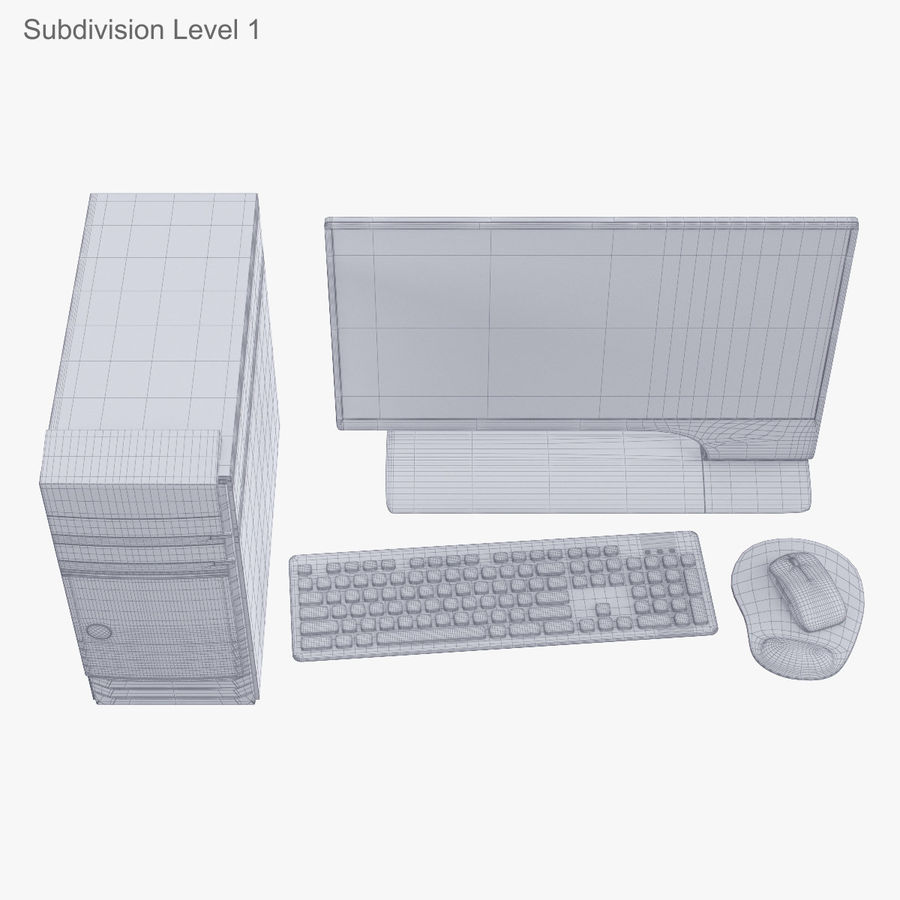 Computer Personal Workstation o Gamestation royalty-free 3d model - Preview no. 49