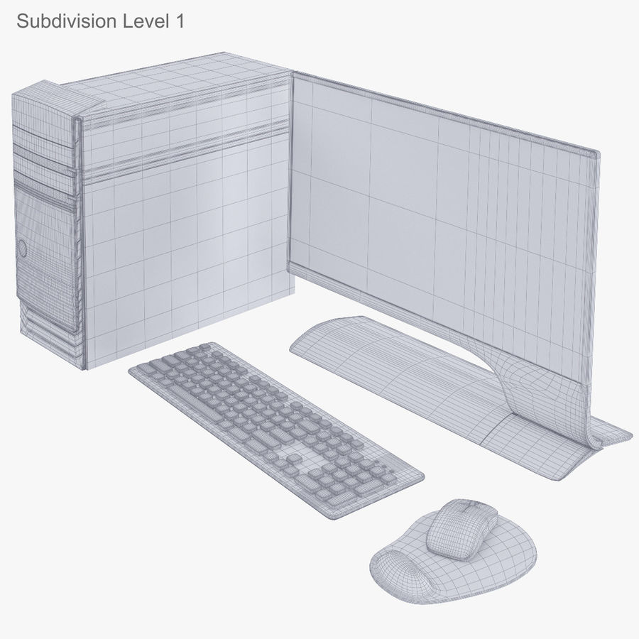 Computer Personal Workstation o Gamestation royalty-free 3d model - Preview no. 32