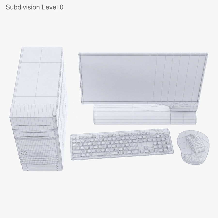 Computer Personal Workstation o Gamestation royalty-free 3d model - Preview no. 30