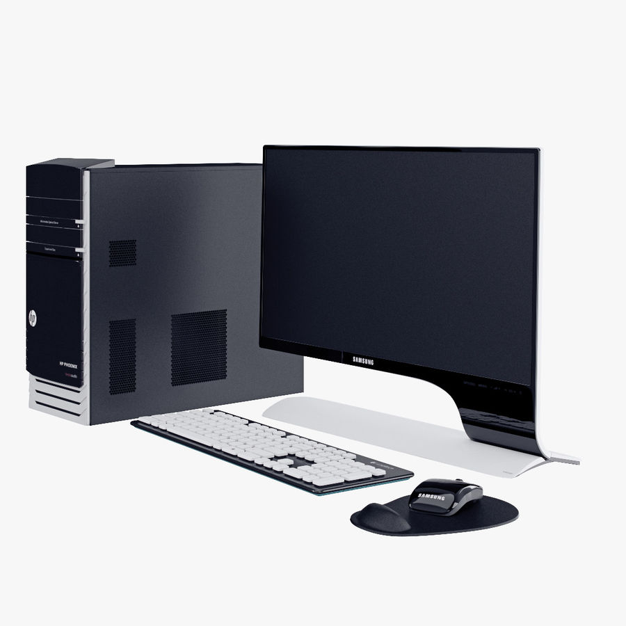 Computer Personal Workstation o Gamestation royalty-free 3d model - Preview no. 1