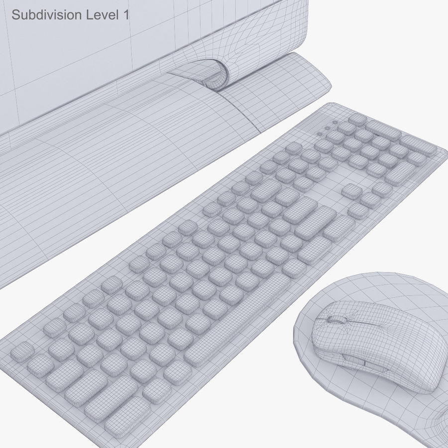 Computer Personal Workstation o Gamestation royalty-free 3d model - Preview no. 45