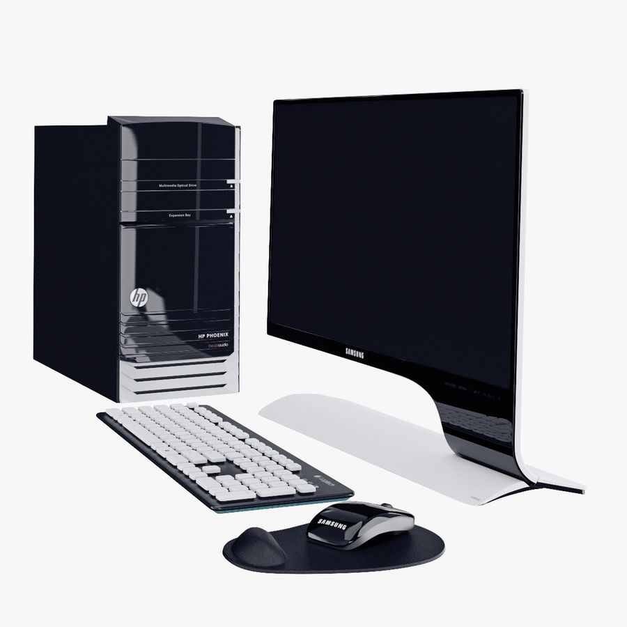 Computer Personal Workstation o Gamestation royalty-free 3d model - Preview no. 6