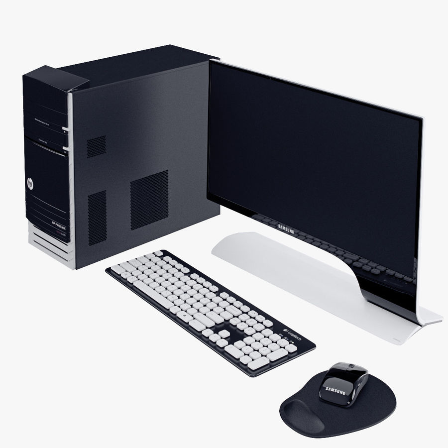 Computer Personal Workstation o Gamestation royalty-free 3d model - Preview no. 3