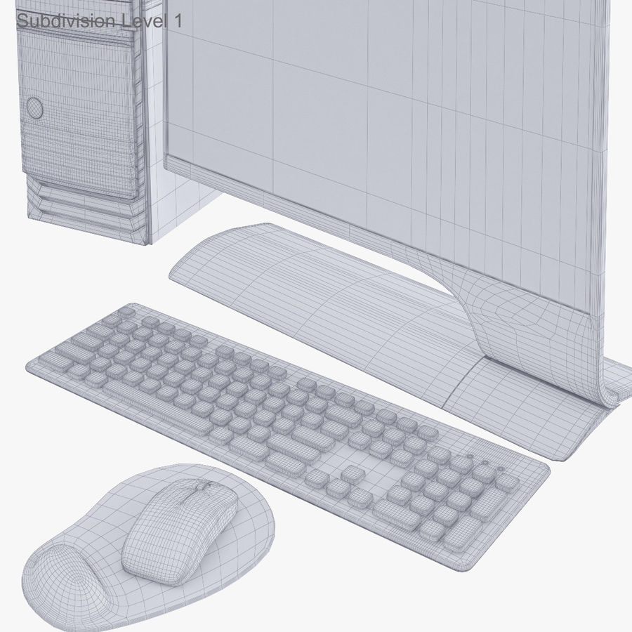 Computer Personal Workstation o Gamestation royalty-free 3d model - Preview no. 46