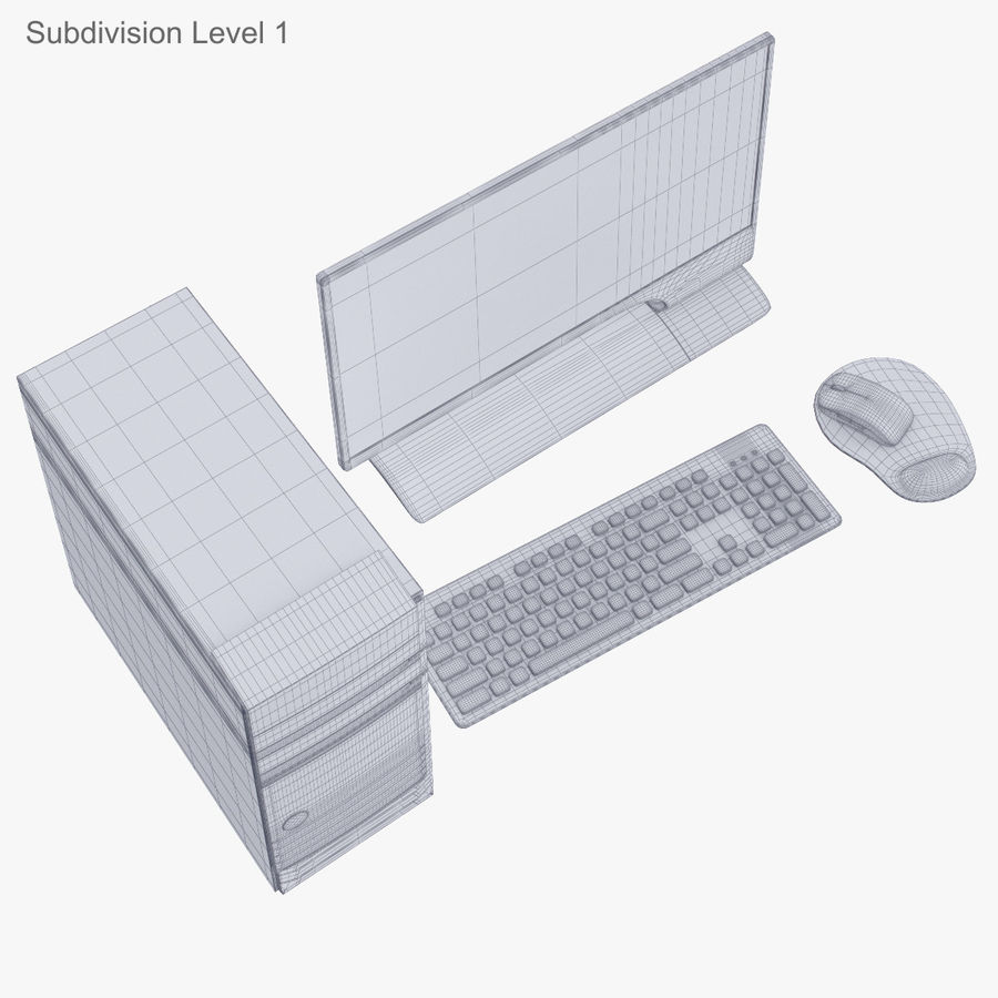 Computer Personal Workstation o Gamestation royalty-free 3d model - Preview no. 35
