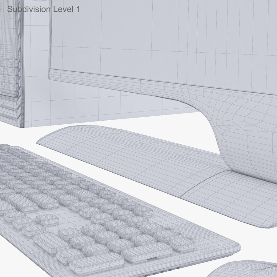 Computer Personal Workstation o Gamestation royalty-free 3d model - Preview no. 44