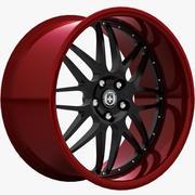 HRE C20レッドブラック 3d model