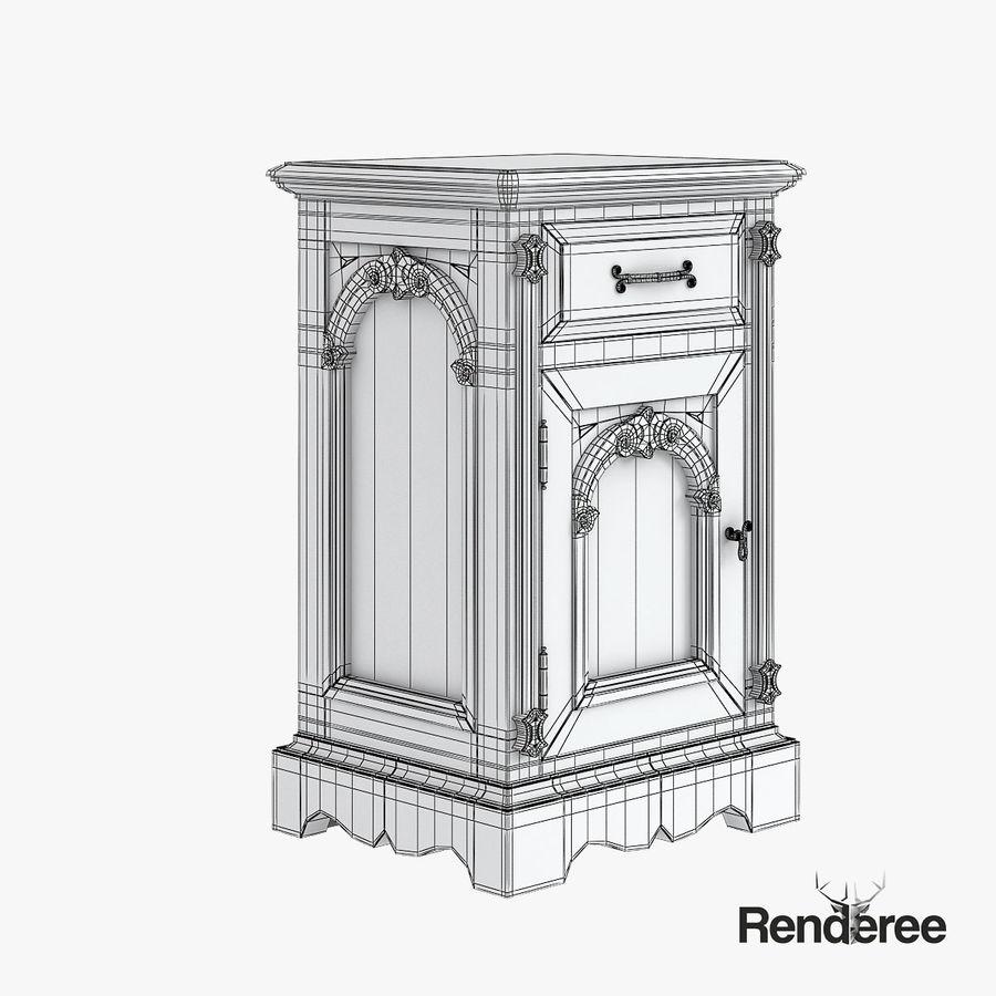 Викторианский кабинет ночной шкаф потрепал 001 royalty-free 3d model - Preview no. 6