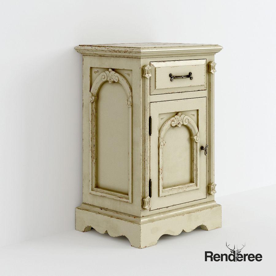 Викторианский кабинет ночной шкаф потрепал 001 royalty-free 3d model - Preview no. 1