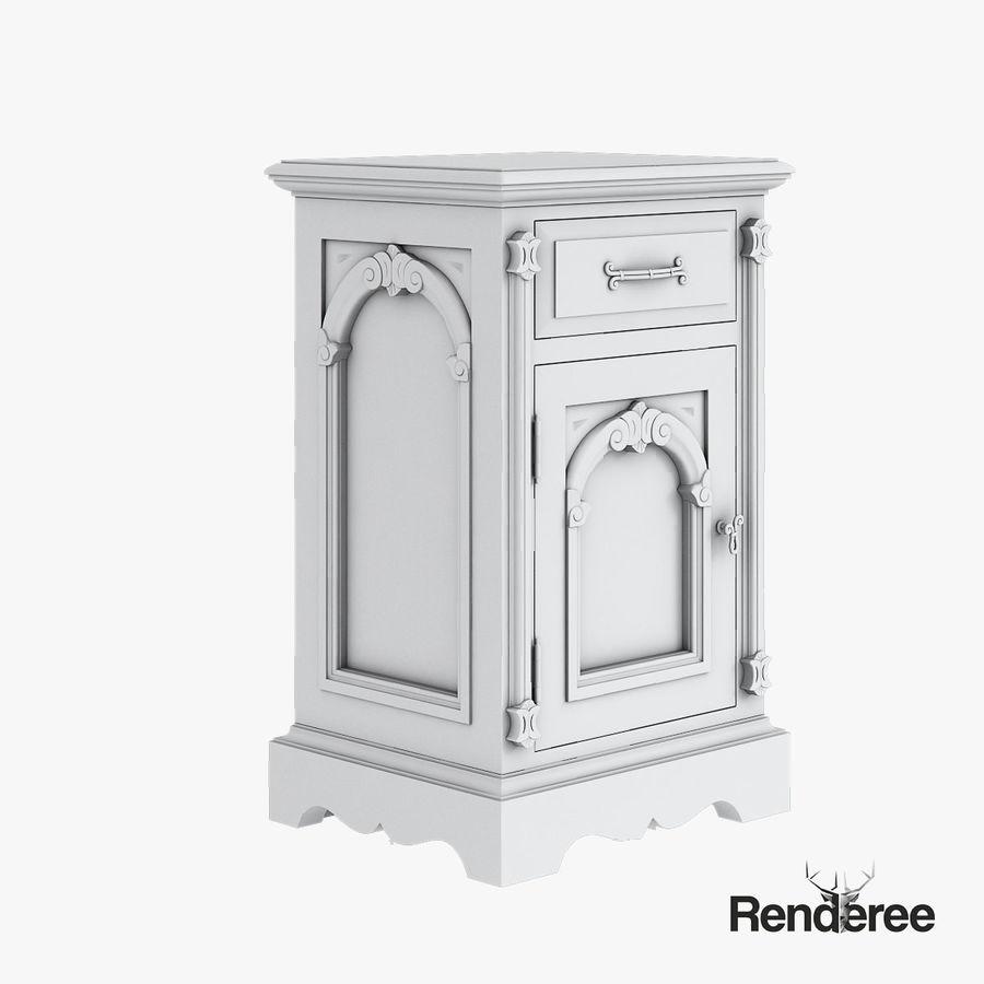 Викторианский кабинет ночной шкаф потрепал 001 royalty-free 3d model - Preview no. 4