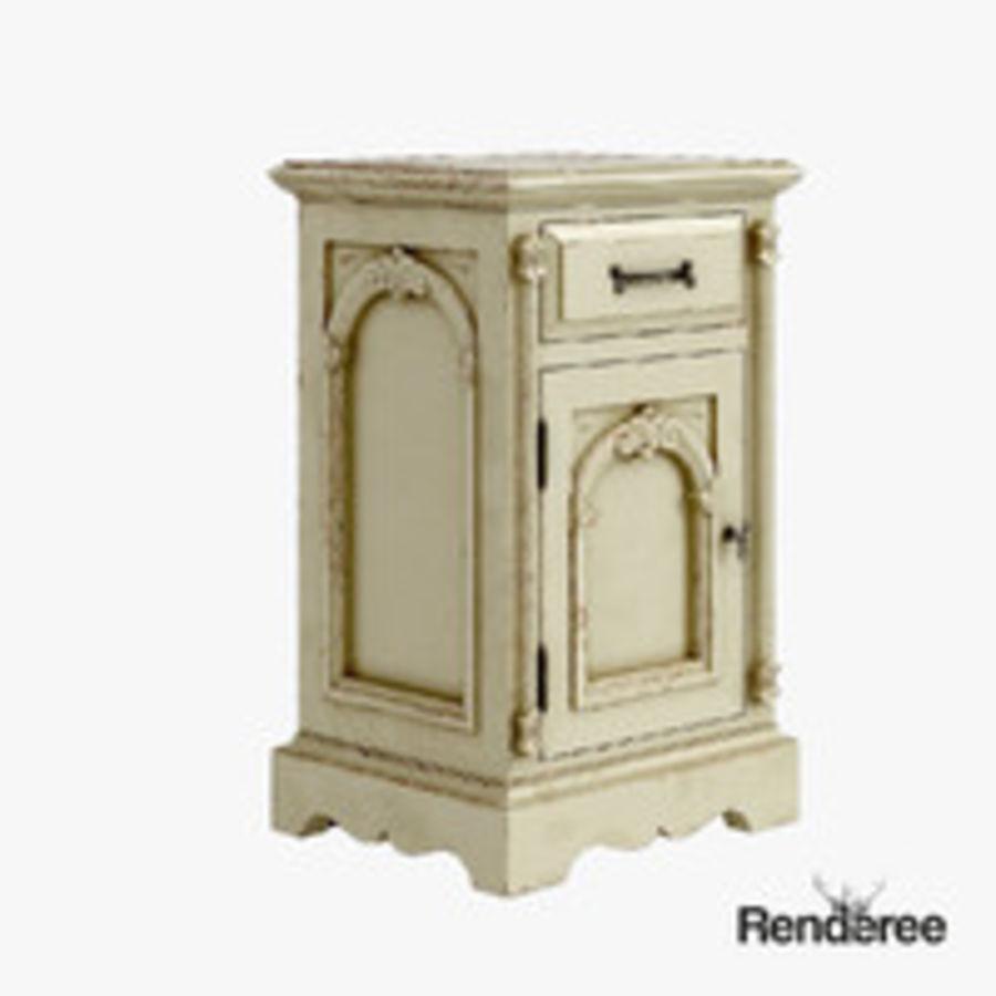 Викторианский кабинет ночной шкаф потрепал 001 royalty-free 3d model - Preview no. 3
