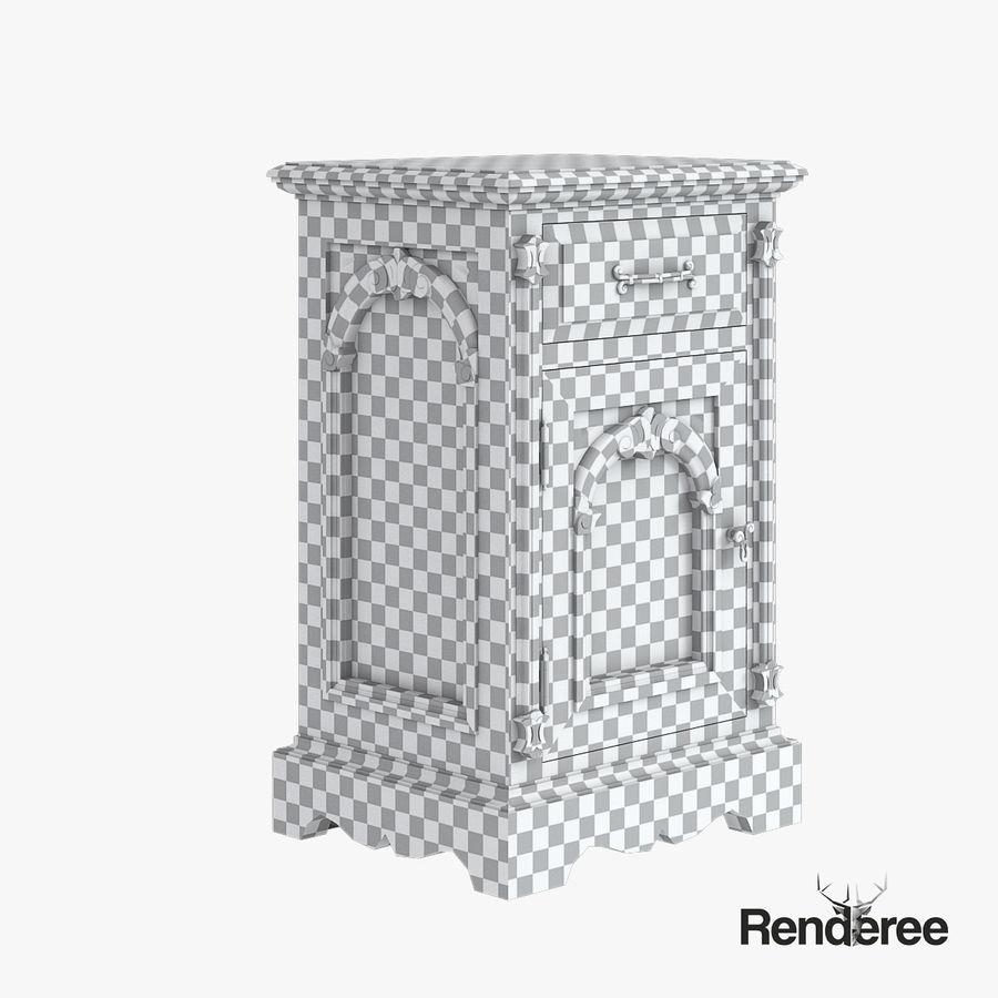 Викторианский кабинет ночной шкаф потрепал 001 royalty-free 3d model - Preview no. 5