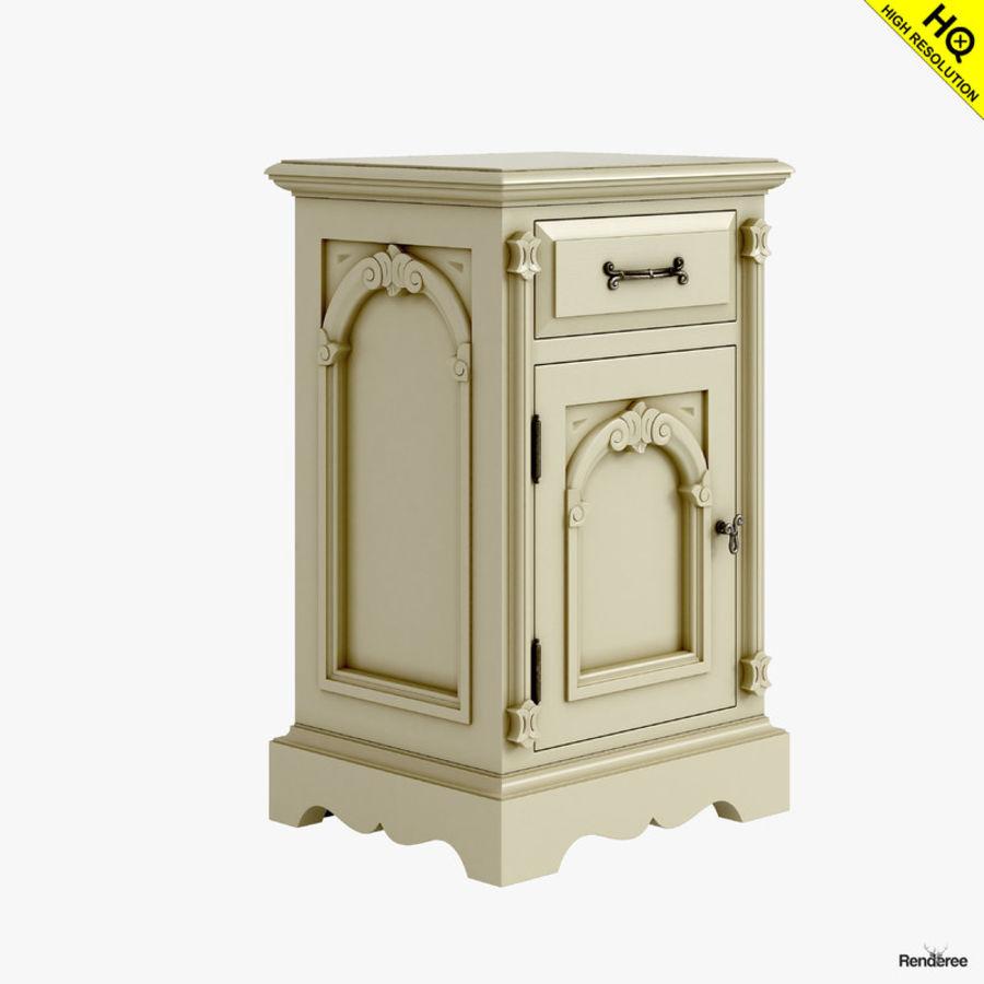 Викторианский кабинет ночной шкаф потрепал 001 royalty-free 3d model - Preview no. 2