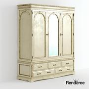 """Шкаф в викторианском стиле """"Потрепанное зеркало"""" 010 3d model"""