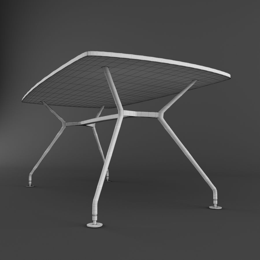 Dinner Table royalty-free 3d model - Preview no. 11