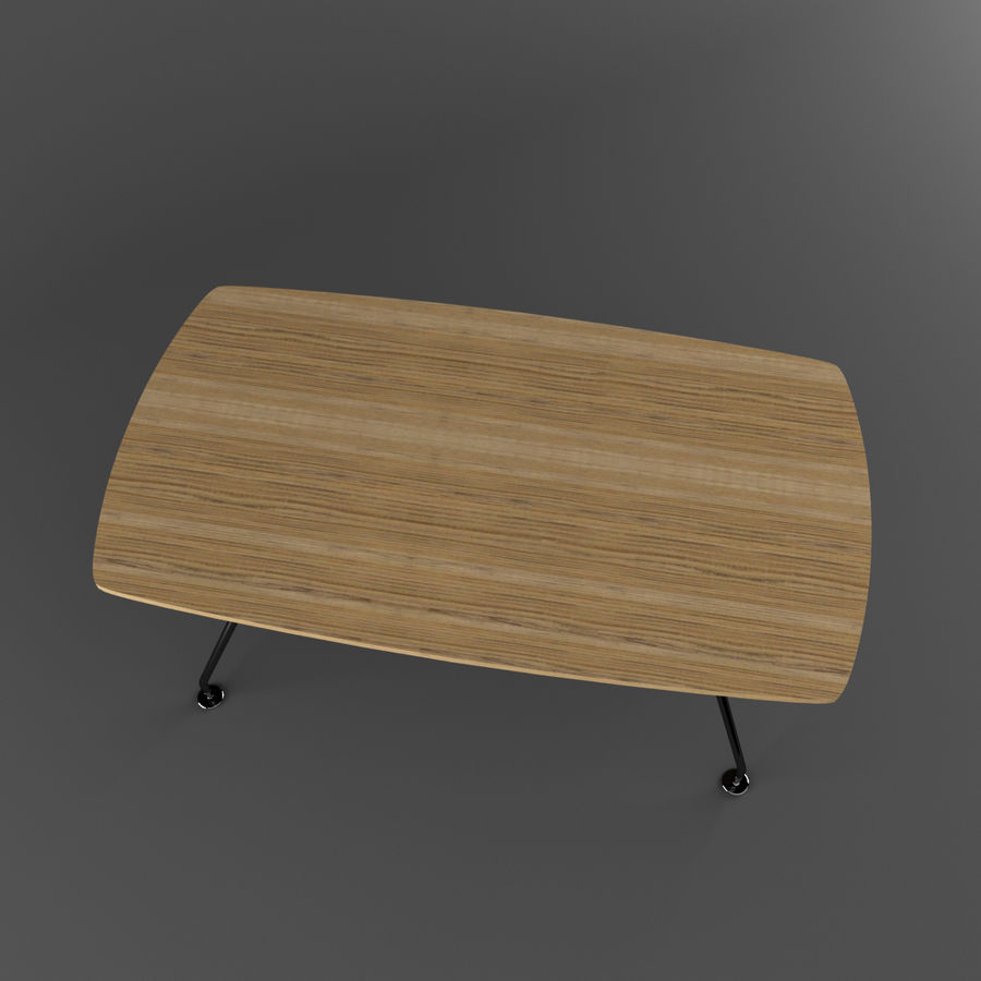Dinner Table royalty-free 3d model - Preview no. 5