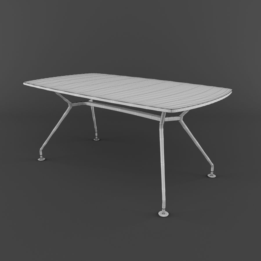 Dinner Table royalty-free 3d model - Preview no. 9