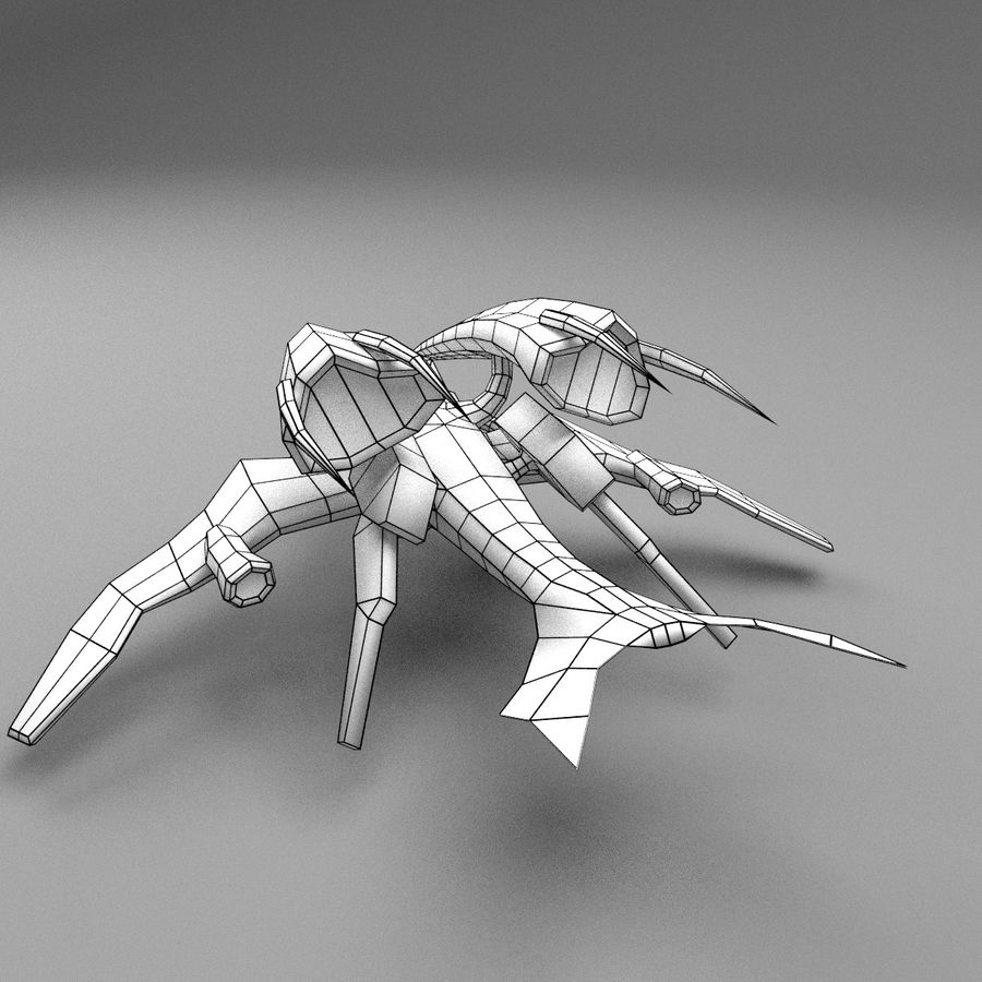 Alien Fighter royalty-free 3d model - Preview no. 7