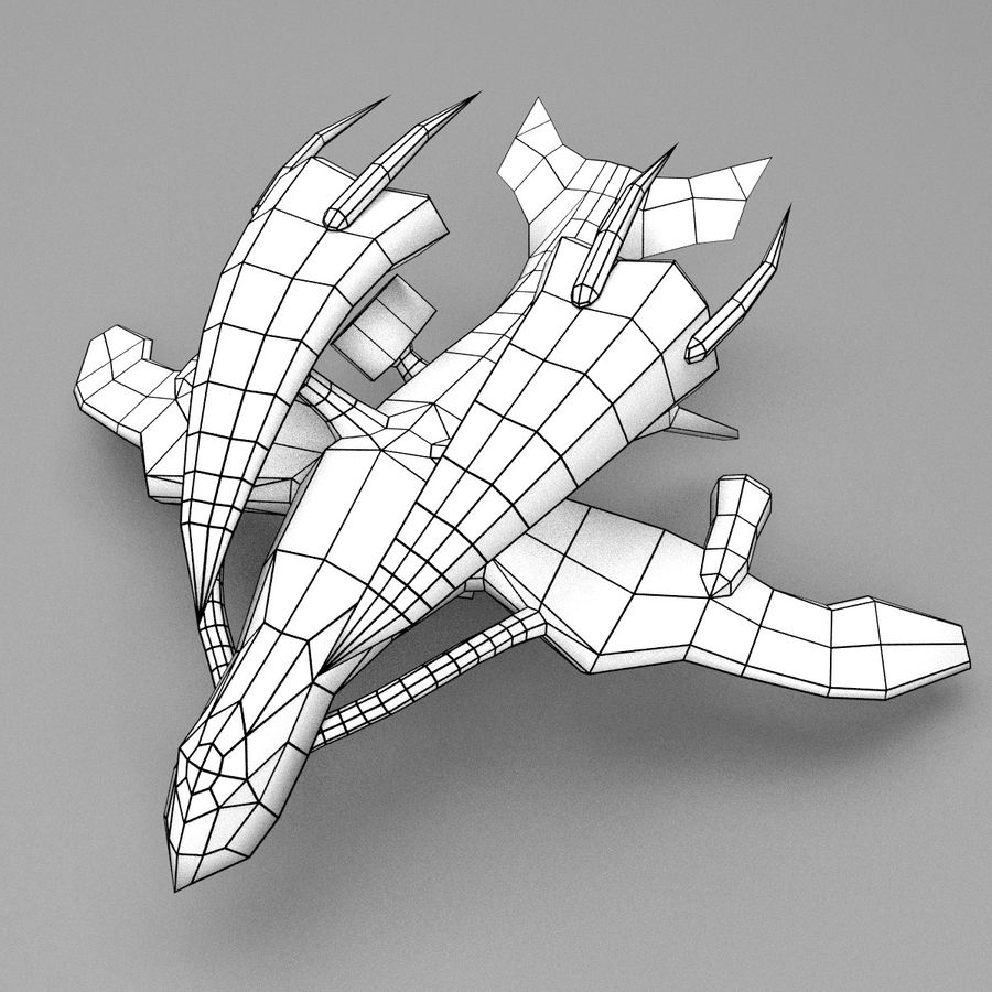 Alien Fighter royalty-free 3d model - Preview no. 6