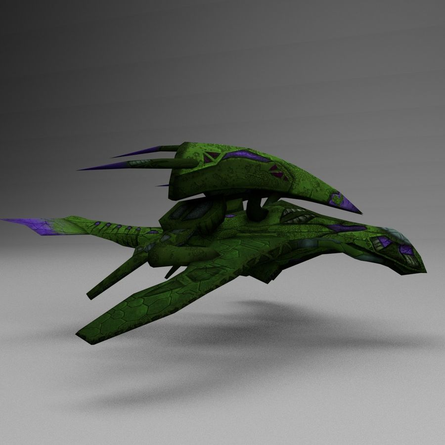 Alien Fighter royalty-free 3d model - Preview no. 5