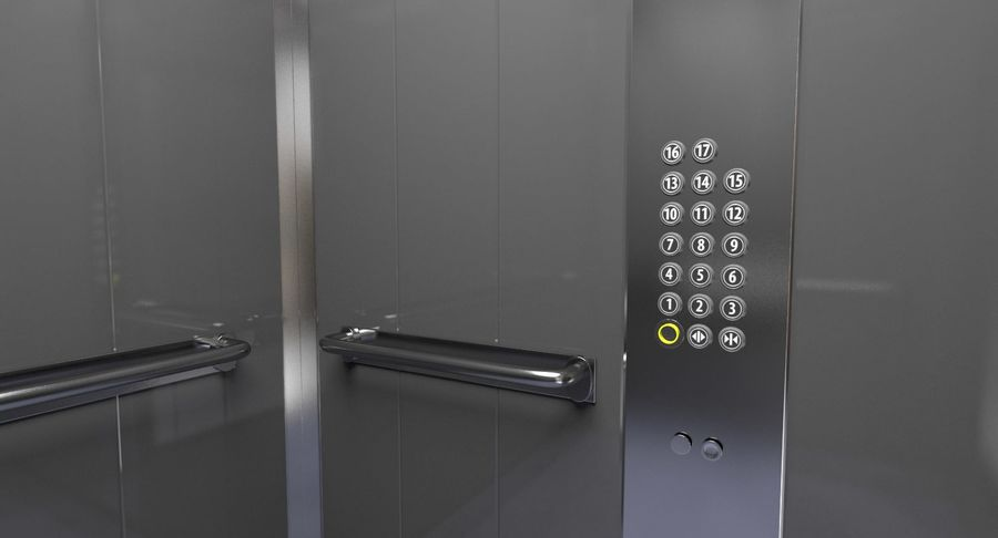 Elevator royalty-free 3d model - Preview no. 4