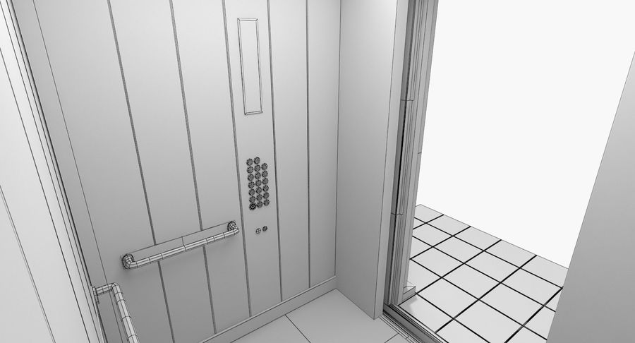 Elevator royalty-free 3d model - Preview no. 9