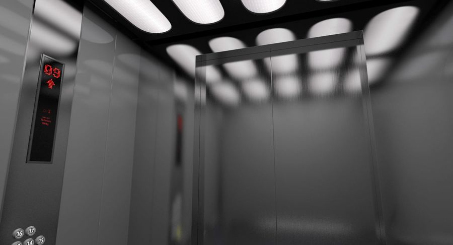 Elevator royalty-free 3d model - Preview no. 5