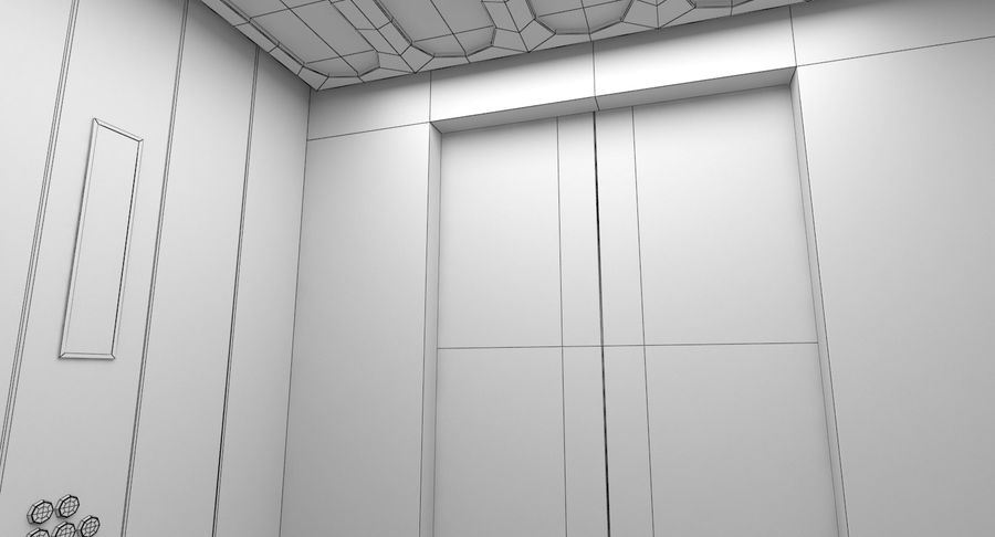 Elevator royalty-free 3d model - Preview no. 11