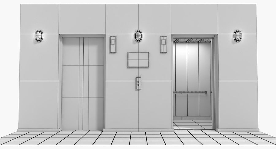 Elevator royalty-free 3d model - Preview no. 7