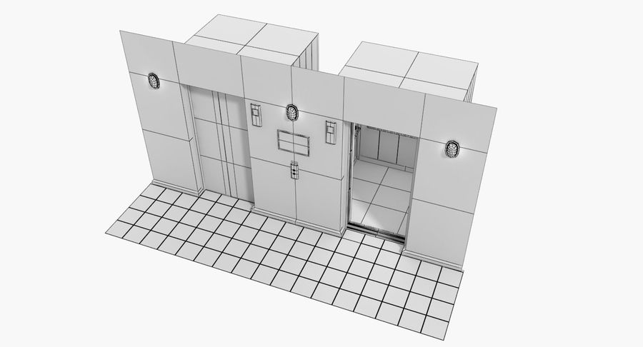Elevator royalty-free 3d model - Preview no. 12