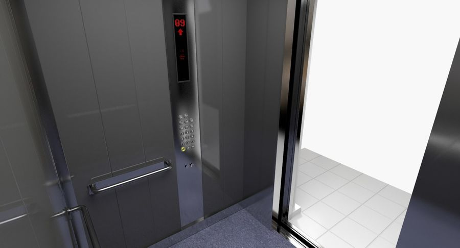 Elevator royalty-free 3d model - Preview no. 3