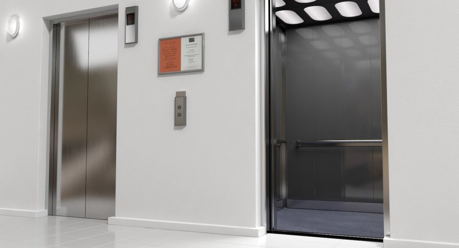 Elevator royalty-free 3d model - Preview no. 2